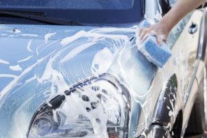 車検後は手洗い洗車してお届け